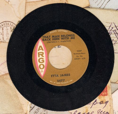 James, Etta - That Man Belongs Back Here With Me/Breaking Point - EX8/ - 45 rpm Records