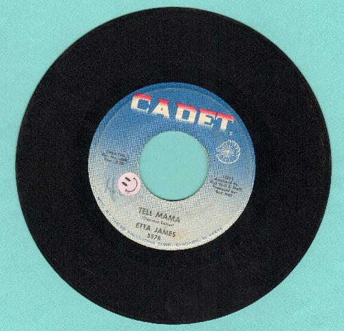 James, Etta - Tell Mama/I'd Rather Go Blind (light blue label second pressing) (sol) - VG7/ - 45 rpm Records