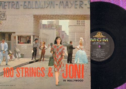 James, Joni with 100 Strings - Joni Sings Hollywood: Tammy, True Love, Over The Rainbow, Secret Love, Dancing On The Ceiling (vinyl MONO LP record) - M10/EX8 - LP Records
