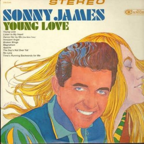 James, Sonny - Young Love: Apache, Broken Wings, Innocent Angel, Listen To My Heart (vinyl STEREO LP record) - M10/EX8 - LP Records