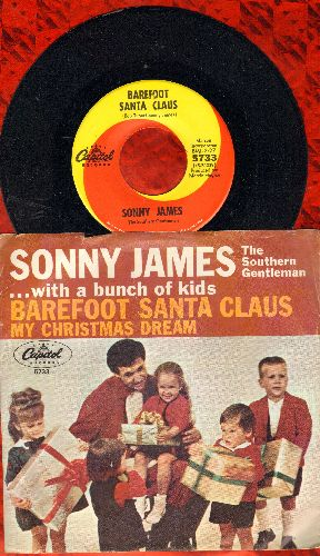 James, Sonny - My Christmas Dream/Barefoot Santa Claus (with picture sleeve) - NM9/VG7 - 45 rpm Records