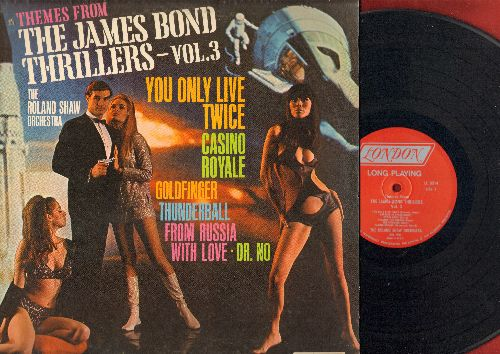 Shaw, Roland Orchestra - Themes From The James Bond Thrillers - Vol. 3: Goldfinger, From Russia With Love, You Only Live Twice, Dr. Love (vinyl MONO LP record) - EX8/EX8 - LP Records
