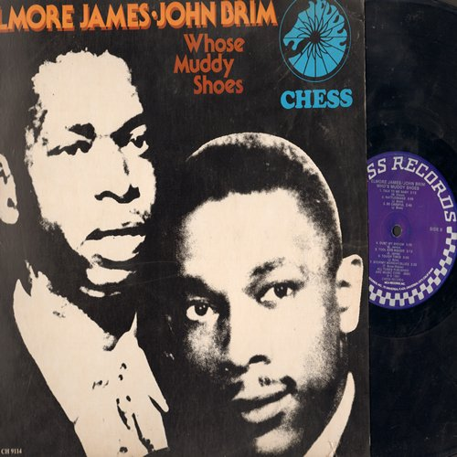 James, Elmore & John Brim - Whose Muddy Shoes: Ice Cream Man, Stormy Monday, Rattlesnake, Dust My Broom (vinyl LP record, re-issue of vintage Blues recordings) - VG7/EX8 - LP Records