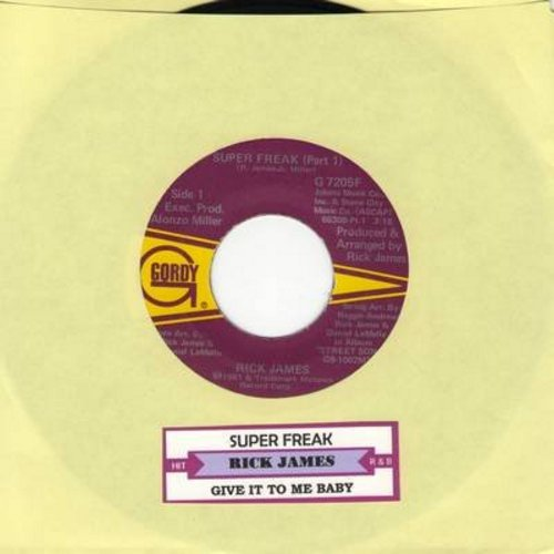 James, Rick - Super Freak (Parts 1 + 2) (with juke box label) - EX8/ - 45 rpm Records