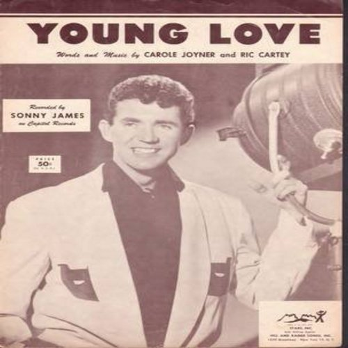 James, Sonny - Young Love - Vintage SHEET MUSIC for the song made popular by Sonny James (THIS IS SHEET MUSIC, NOT ANY OTHER KIND OF MEDIA!) - VG7/ - Sheet Music
