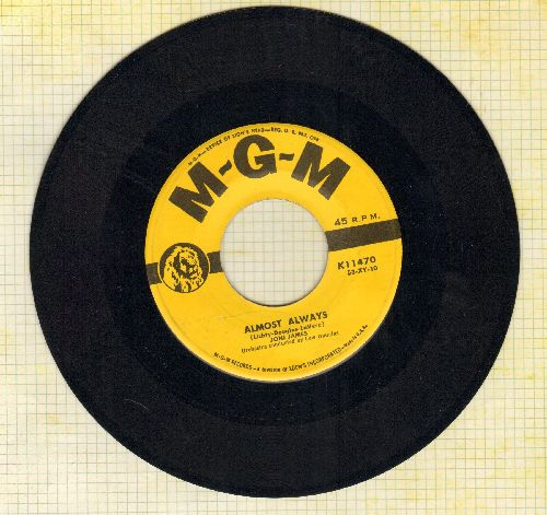 James, Joni - Almost Always/Is It Any Wonder - VG7/ - 45 rpm Records