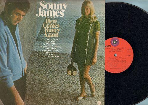 James, Sonny - Here Comes Honey Again: Pledging My Love, Louisiana Bayou, Clinging Vine (vinyl STEREO LP record) - EX8/VG7 - LP Records