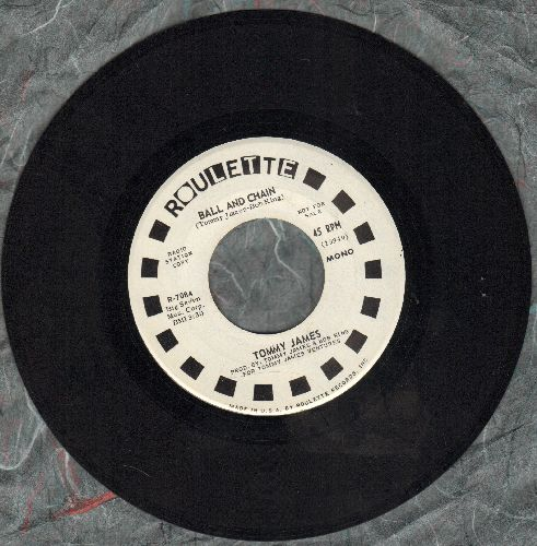 James, Tommy - Ball And Chain (double-A-sided DJ advance pressing) - NM9/ - 45 rpm Records
