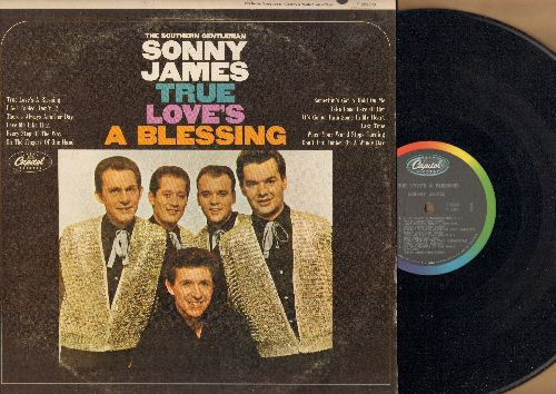 James, Sonny - True Love's A Blessing: Somethin's Got A Hold On Me, Don't Cut Timber On A Windy Day, Love Me Like That (vinyl MONO LP record) - NM9/VG7 - LP Records