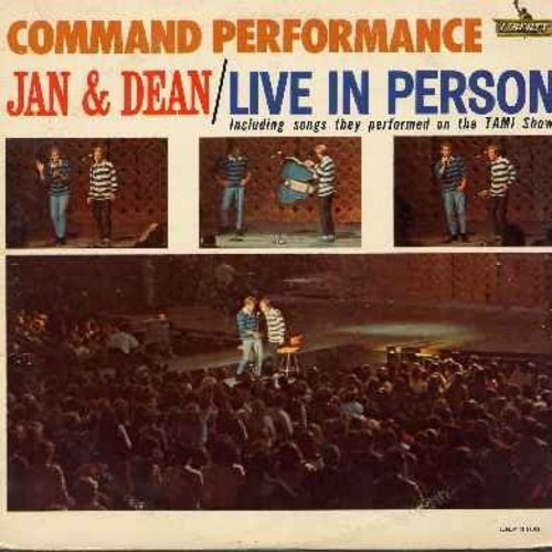 Jan & Dean - Command Performance: All I Have To Do Is Dream, Little Honda, I Get Around, Sidewalk Surfin', Do Wah Diddy Diddy, Surf City, Dead Man's Curve (vinyl MONO LP record) - NM9/EX8 - LP Records