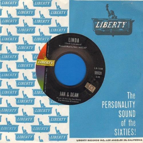 Jan & Dean - Linda (Li-Li-Li-Li-Li-Lin-Da)/When I Learn How To Cry (with vintage Liberty company sleeve) (sol) - NM9/ - 45 rpm Records