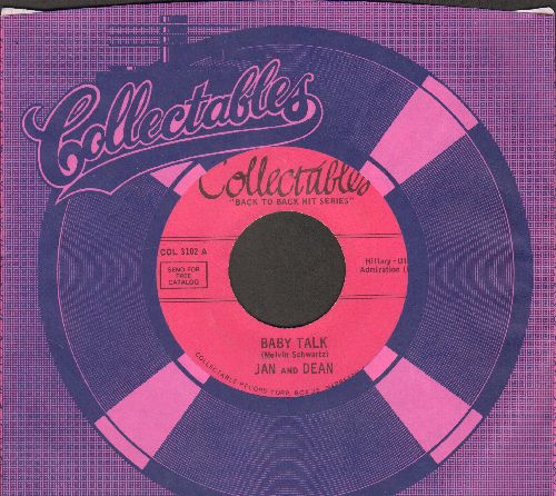 Jan & Dean - Baby Talk/Double Shot Of My baby's Love (by The Swinging Blue Jeans) (early re-issue with Collectables company sleeve) - EX8/ - 45 rpm Records