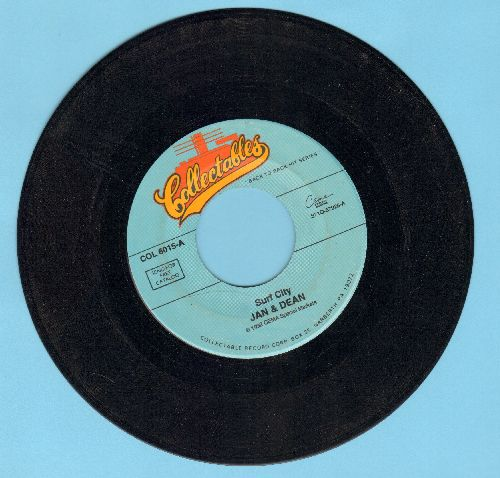 Jan & Dean - The Little Old Lady (From Pasadena)/Surf City (double-hit re-issue) - VG7/ - 45 rpm Records
