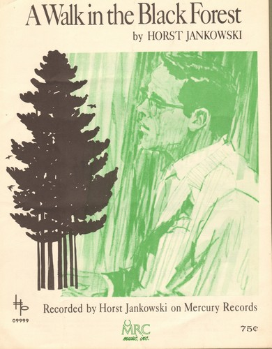 Jankowski, Horst - A Walk In The Black Forest - Vintage SHEET Music for the Instrumental Hit by Horst Jankowski (This is SHEET MUSIC, not any other kind of media!) - EX8/ - Sheet Music
