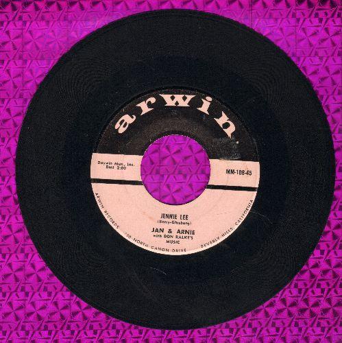 Jan & Arnie - Jennie Lee/Gotta Getta Date  - VG7/ - 45 rpm Records