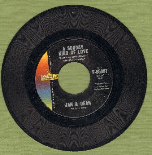 Jan & Dean - A Sunday Kind Of Love/Poor Little Puppet  - EX8/ - 45 rpm Records
