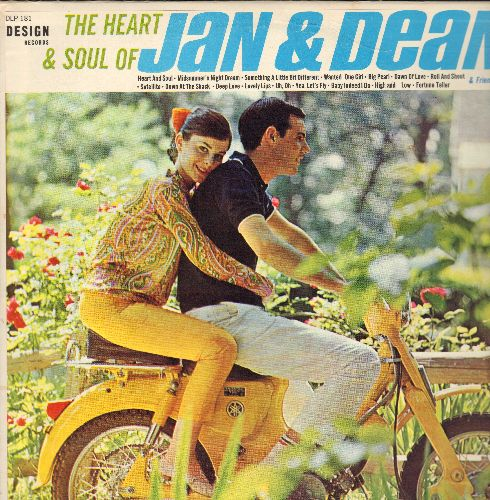 Jan & Dean - The Heart & Soul Of Jan & Dean: Roll & Shout, Down At The Shack, Heart & Soul, Uh Oh, Lovely Lips, Midsummer Nights Dream (vinyl STEREO LP record) - EX8/VG7 - LP Records