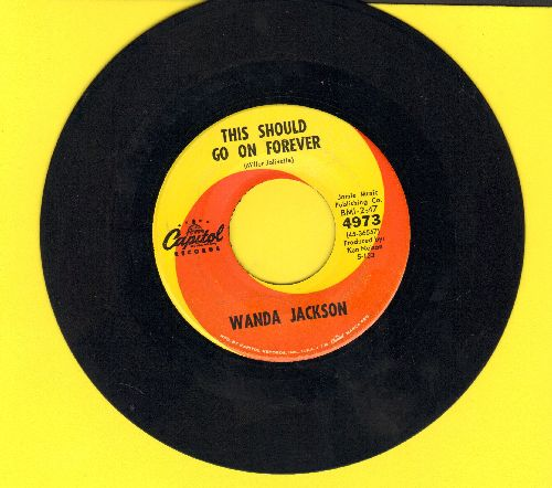 Jackson, Wanda - This Should Go On Forever/We Haven't A Moment To Lose  - EX8/ - 45 rpm Records