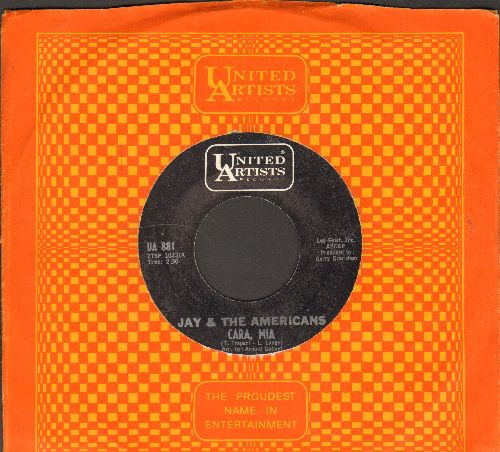 Jay & The Americans - Cara, Mia/When It's All Over (with United Artists company sleeve) - EX8/ - 45 rpm Records