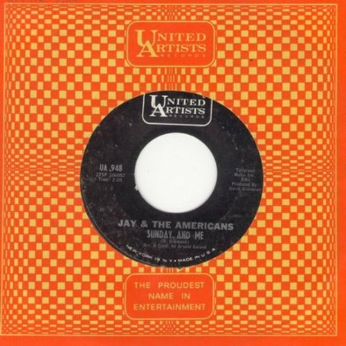 Jay & The Americans - Sunday And Me/Through This Doorway (with United Artists company sleeve) - NM9/ - 45 rpm Records