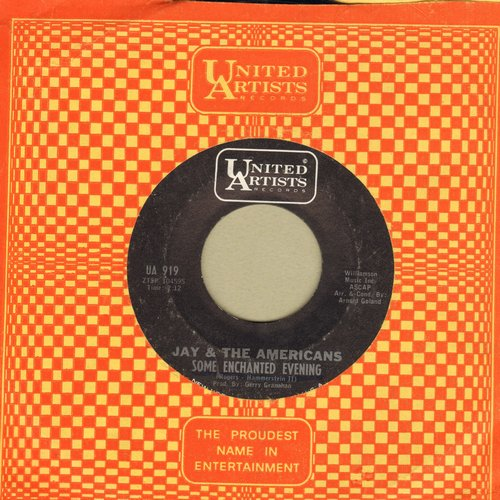 Jay & The Americans - Some Enchanted Evening/Girl (with vintage United Artists company sleeve) - NM9/ - 45 rpm Records