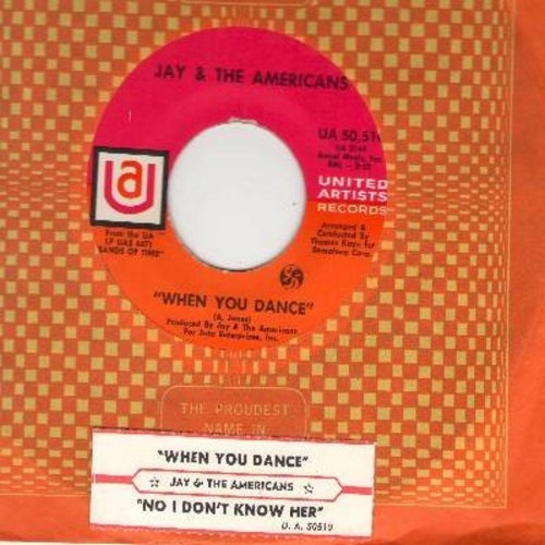 Jay & The Americans - When You Dance/No, I Don't Know Her (with UA company sleeve) - M10/ - 45 rpm Records