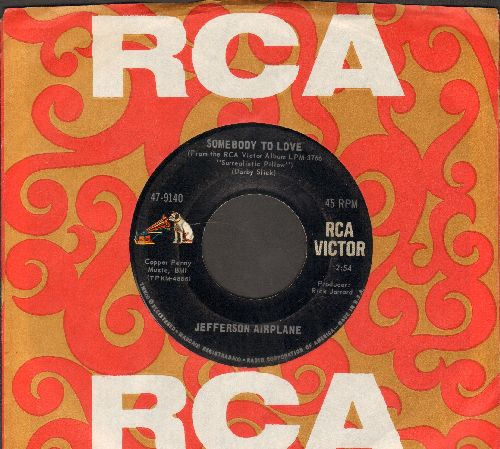 Jefferson Airplane - Somebody To Love/She Has Funny Cars (with RCA company sleeve) - EX8/ - 45 rpm Records