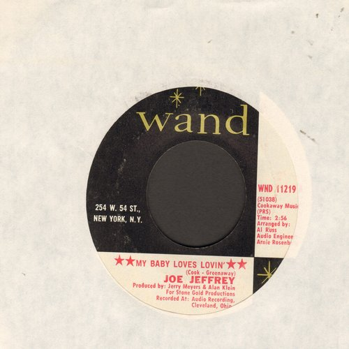 Jeffrey, Joe Group - My Baby Loves Lovin'/The Chance Of Loving You (wol) - VG6/ - 45 rpm Records