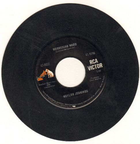 Jennings, Waylon - Norwegian Wood/Time To Bum Again - EX8/ - 45 rpm Records