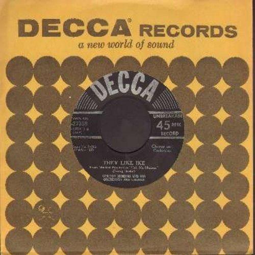 Jenkins, Gordon & His Orchestra & Chorus - They Like Ike/Lichtenburg (from film -Call Me Madam-) - NM9/ - 45 rpm Records