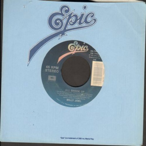 Joel, Billy - All Shook Up (EXCELLENT new cover version of Elvis Presley Hit!)/Wear My Ring Around Your Neck (Instrumental) - EX8/ - 45 rpm Records