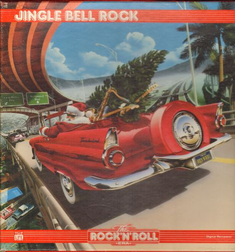 Helms, Bobby, Chuck Berry, Beach Boys, Supremes, others - Jingle Bell Rock - 25 Vintage Rock & Roll Christmas Favorites on 2 vinyl LP records in Box. 1987 Time Life Issue. GREAT as Christmas Gift! - NM9/EX8 - LP Records