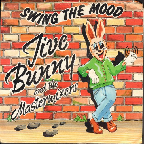 Jive Bunny & The Mastermixers - Swing The Mood/Glenn Miller Medley (with picture sleeve) - NM9/EX8 - 45 rpm Records