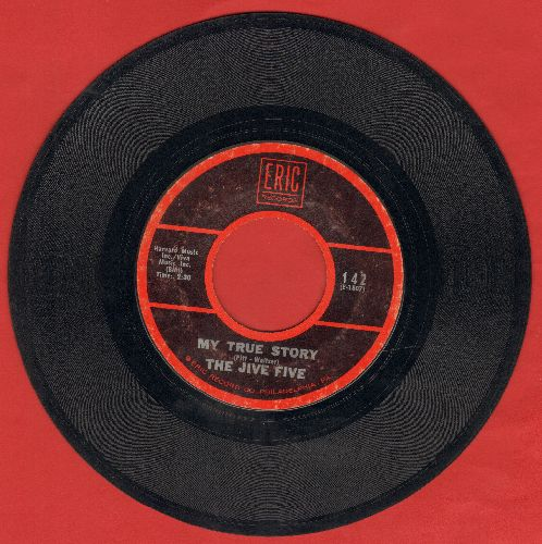 Jive Five - My True Story/What Time Is It? (double-hit re-issue) - VG7/ - 45 rpm Records