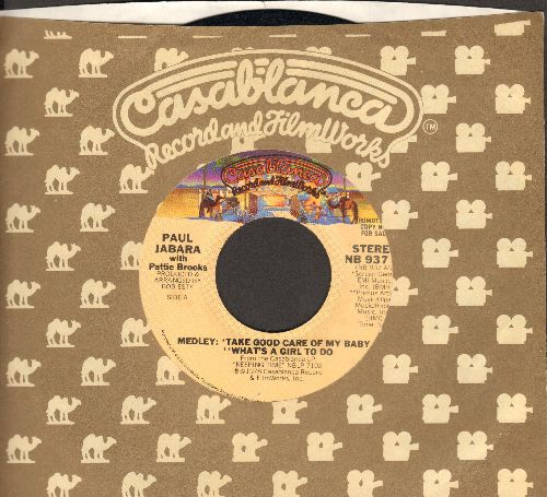 Jabara, Paul & Patti Brooks - Take Good Care Of My Baby/What's A Girl To Do/It All Comes Back To You (with Casablanca company sleeve) - VG7/ - 45 rpm Records