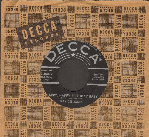 Jones, Kay Cee - Happy, Happy Birthday Baby/Humpty Dumpty Heart (with vintage Decca company sleeve) - VG7/ - 45 rpm Records