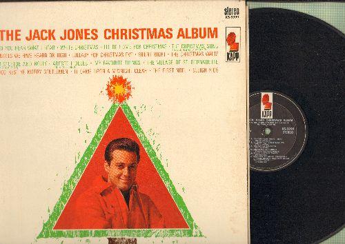 Jones, Jack - The Jack Jones Christmas Album: White Christmas, Sleigh Ride, My Favorite Things, I'll Be Home For Christmas (vinyl STEREO LP record) - VG7/EX8 - LP Records