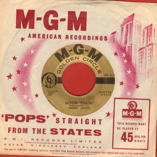 Jones, Jimmy - Handy Man/Good Timin' (early double hit re-issue with RARE MGM company sleeve) - NM9/ - 45 rpm Records