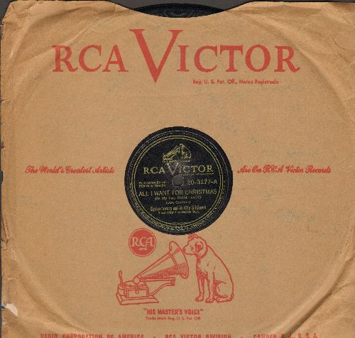 Jones, Spike & His City Slickers - All I Want For Christmas (Is My Two Front Teeth)/Happy New Year (10 inch 78 rpm record with RCA Victor company sleeve) - EX8/ - 78 rpm