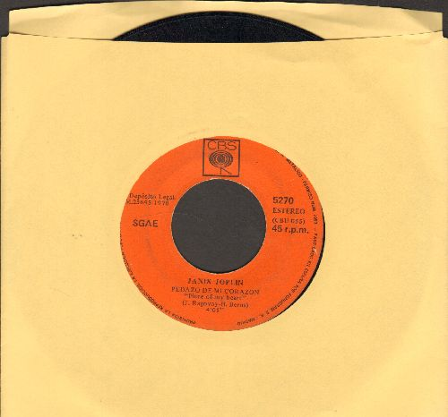 Joplin, Janis - Pedazo De Mi Corazon (Piece Of My Heart)/Tiempo De Verano (Summertime) (Spanish Pressing) - VG7/ - 45 rpm Records