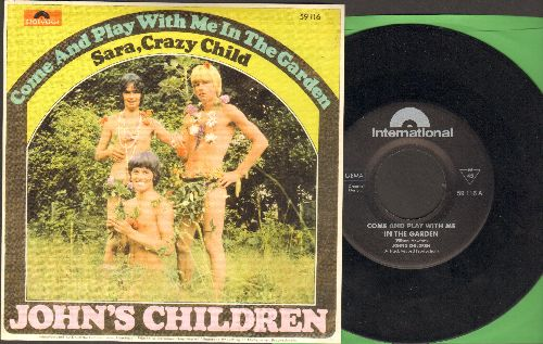 John's Children - Come And Play With Me In The Garden/Dara, Crazy Child (re-issue of vintage recordings with picture sleeve) - NM9/NM9 - 45 rpm Records