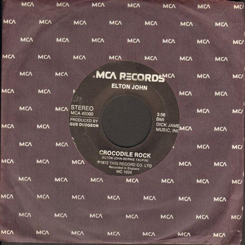 John, Elton - Crocodile Rock/Elderberry Wine - NM9/ - 45 rpm Records