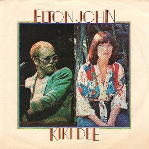 John, Elton & Kiki Dee - Don't Go Breaking My Heart/Snow Queen (with picture sleeve) - NM9/VG7 - 45 rpm Records