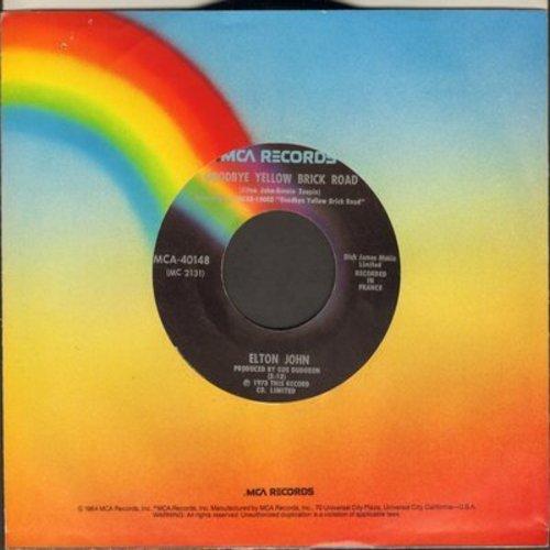 John, Elton - Goodbye Yellow Brick Road/Young Man's Blues - NM9/ - 45 rpm Records