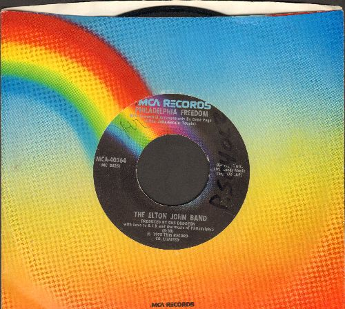 John, Elton - Philadelphia Freedom/I Saw Her Standing There (with John Lennon)(wol) - VG7/ - 45 rpm Records