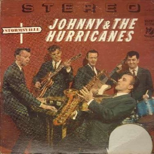 Johnny & The Hurricanes - Stormsville: Cyclone, Time Bomb, Hot Fudge, Catnip, Reveille Rock, Milk Shake, Rockin' 'T, Bean Bag (vinyl LP record, RARE STEREO issue!) - EX8/VG7 - LP Records