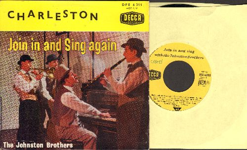 Johnston Brothers - Charleston - Join In And Sing Again (vinyl EP record with picture cover, British Pressing) - NM9/NM9 - 45 rpm Records