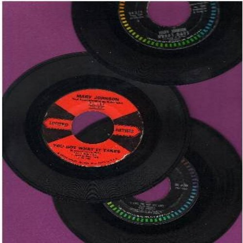 Johnson, Marv - Marv Johnson 3-Pack: 3 vintage first issue 45s, all in very good or better condition, shipped in plain white paper sleeves and 4 blank juke box labels. Hits include: You Got What It Takes, Happy Days, I Love The Way You Love (GREAT for a J