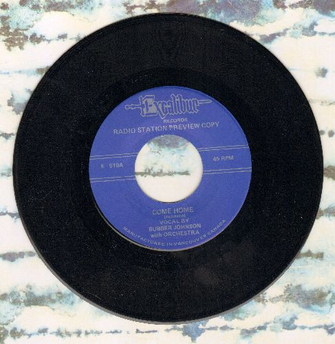 Johnson, Bubber - Come Home/Mr. Blues Is Coming To Town (by Wynonie Harris on flip-side)(re-issue) - M10/ - 45 rpm Records