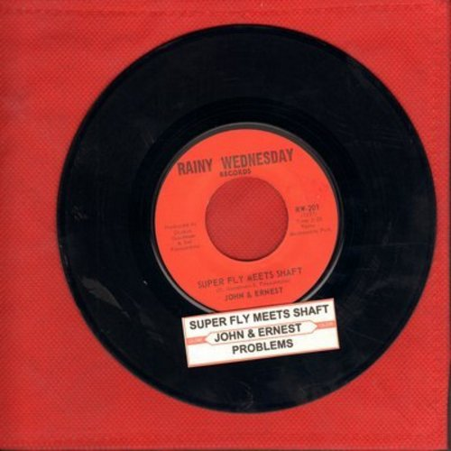 John & Ernest - Super Fly Meets Shaft/Part Two (cut-in novelty) - VG7/ - 45 rpm Records